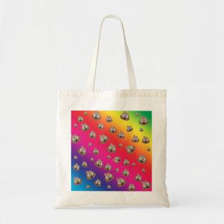 虹のウンチのEmojiかわいいパターン トートバッグ