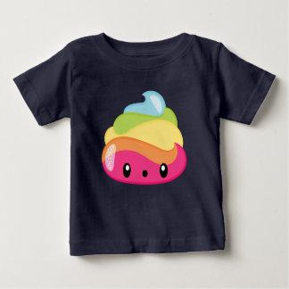虹のウンチEmoji ベビーTシャツ