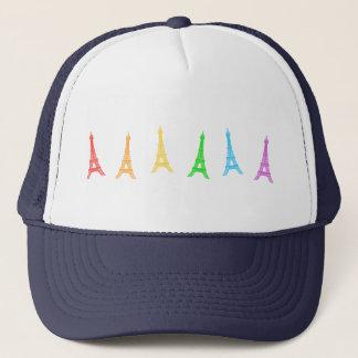 虹のエッフェル塔 キャップ