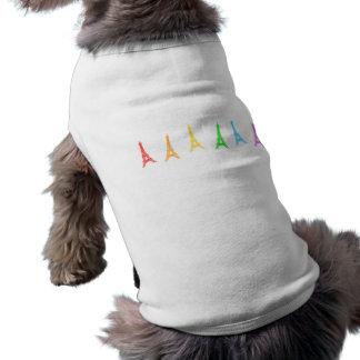 虹のエッフェル塔 ペット服