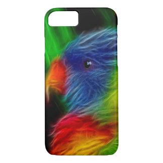 虹のオウム iPhone 8/7ケース