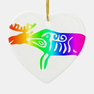 虹のオオシカ セラミックオーナメント