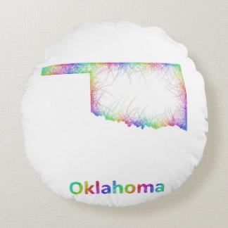虹のオクラホマの地図 ラウンドクッション