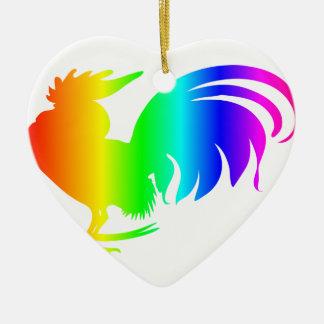 虹のオンドリ セラミックオーナメント