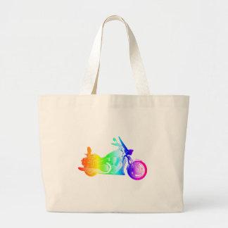 虹のオートバイ#2 ラージトートバッグ