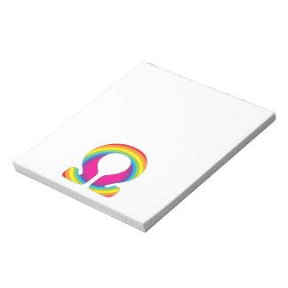 虹のオームのヨガの信念 ノートパッド