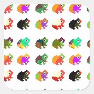 虹のカエル スクエアシール