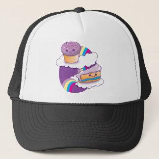 虹のカップケーキそして切れ キャップ