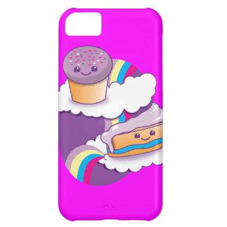 虹のカップケーキそして切れ iPhone5Cケース
