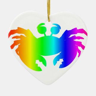 虹のカニ2 セラミックオーナメント