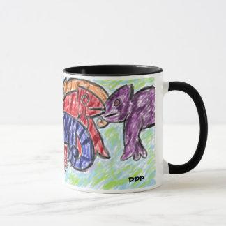 虹のカメレオン マグカップ