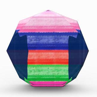 虹のカラフルなギフトの挨拶のイベント議会 表彰盾