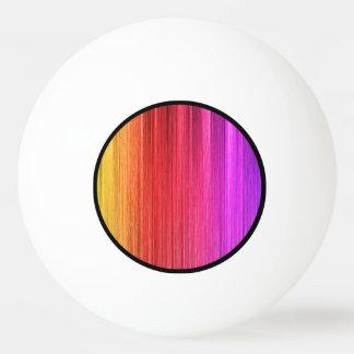 虹のカーテンのデザイン 卓球ボール