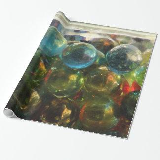 虹のガラス大理石の光沢度の高い包装紙 ラッピングペーパー
