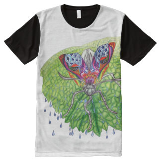 虹のガ オールオーバープリントシャツ