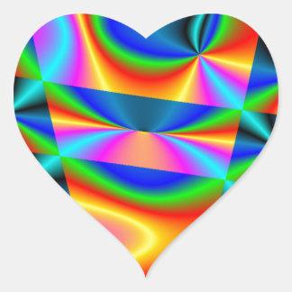 虹のキルト ハートシール