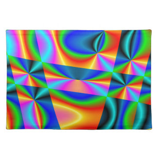 虹のキルト ランチョンマット
