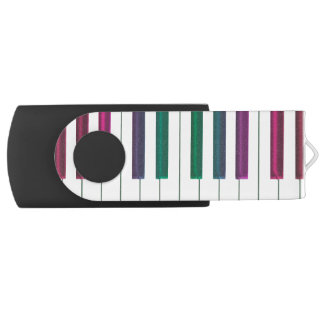 虹のキーボード音楽USBのフラッシュドライブ USBフラッシュドライブ