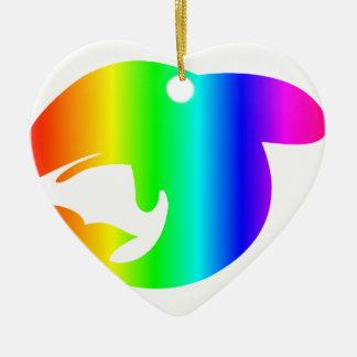 虹のクジラ セラミックオーナメント