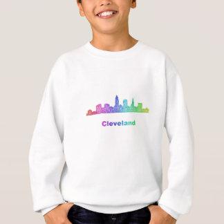 虹のクリーブランドのスカイライン スウェットシャツ