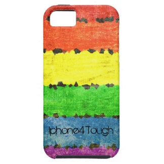 虹のクレヨンは-名前入りなGLBTのプライドを縞で飾ります! iPhone SE/5/5s ケース