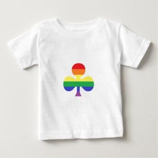 虹のクローバー ベビーTシャツ