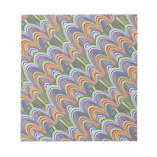 虹のグラフィック ノートパッド