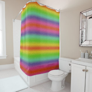 虹のグリッターの質のシャワー・カーテン シャワーカーテン