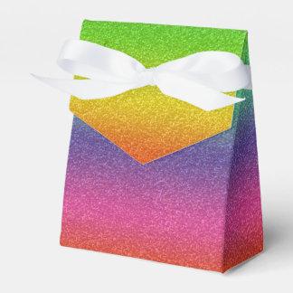 虹のグリッターの質の好意箱 フェイバーボックス