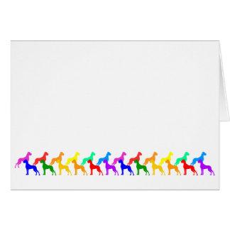 虹のグレートデーン カード