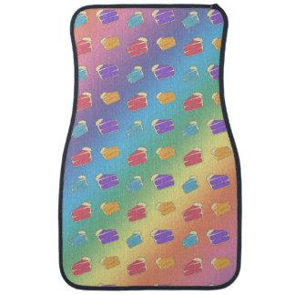 虹のケーキパターン カーマット