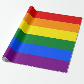 虹のゲイプライドの旗%PIPE%の包装紙 ラッピングペーパー