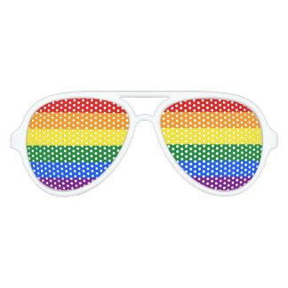 虹のゲイプライドの旗%PIPE%サングラス アビエーターサングラス