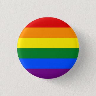虹のゲイプライドの旗%PIPE%ボタン 3.2CM 丸型バッジ