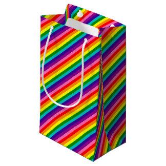 虹のゲイプライドLGBTのオリジナル8のストライプな旗 スモールペーパーバッグ