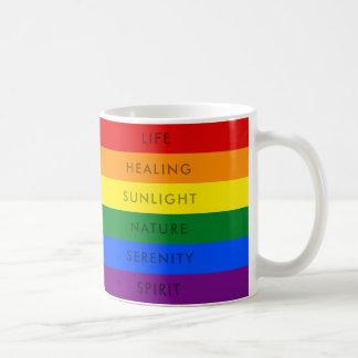 虹のゲイプライドLGBTの旗の引用文%PIPE%のマグ コーヒーマグカップ