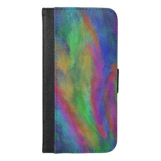 虹のコイの池の電話箱 iPhone 6/6S PLUS ウォレットケース