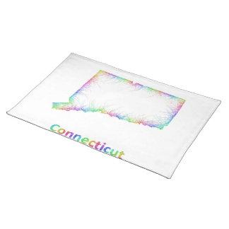 虹のコネチカットの地図 ランチョンマット
