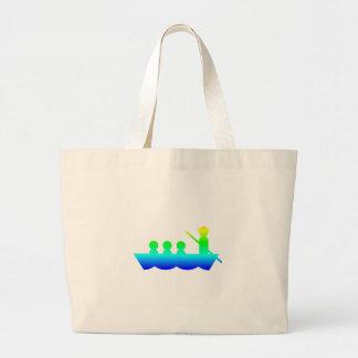 虹のゴンドラ ラージトートバッグ