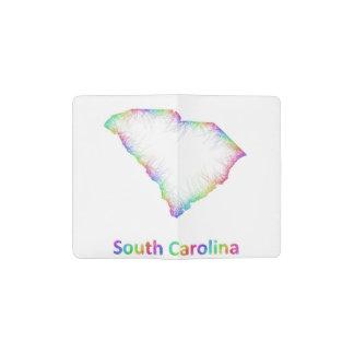 虹のサウスカロライナの地図 ポケットMoleskineノートブック