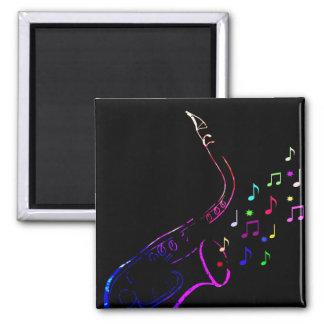 虹のサクソフォーンの磁石 マグネット