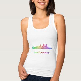 虹のサンフランシスコのスカイライン タンクトップ