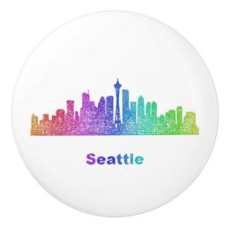 虹のシアトルのスカイライン セラミックノブ
