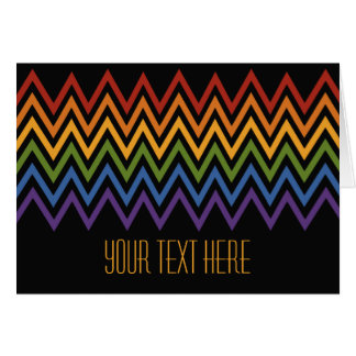 虹のシェブロンパターンカスタムな挨拶状 カード