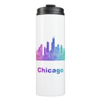 虹のシカゴのスカイライン タンブラー