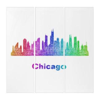 虹のシカゴのスカイライン トリプティカ