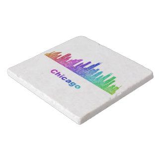 虹のシカゴのスカイライン トリベット