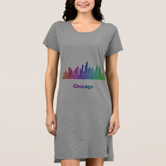 虹のシカゴのスカイライン ドレス