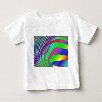 虹のシマウマのプリントのBabysのTシャツ ベビーTシャツ