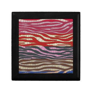 虹のシマウマの抽象芸術 ギフトボックス